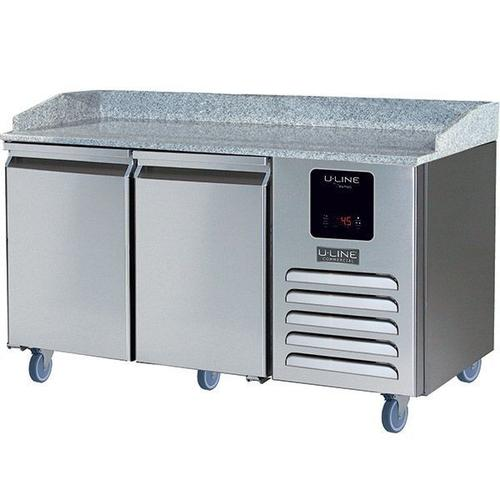 U-Line - 2 Door Pizza Prep-table Refrigerator With Stainless Solid Finish (115v/60 Hz Volts /60 Hz Hz)