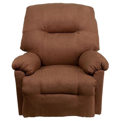 Contemporary Calcutta Chocolate Microfiber Power Chaise Recliner with Push Button