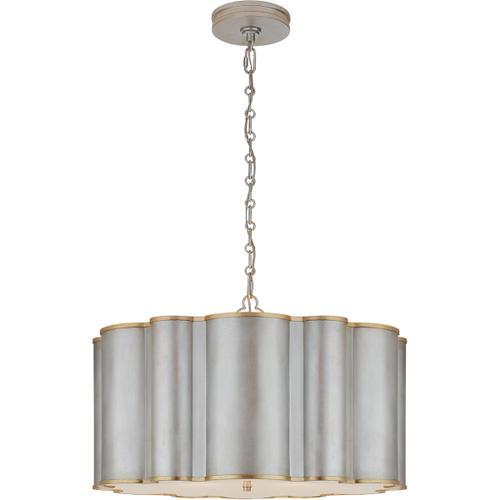 - Alexa Hampton Markos 4 Light 26 inch Burnished Silver Leaf with Gild Pendant Ceiling Light in Burnished Silver Leaf and Gild, Large