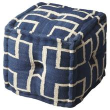 See Details - This square pouf has a distinctive and stylish geometric pattern that is soon to be a conversation piece. With a fun and fresh pattern, these poufs make a simple, yet sophisticated statement in any room or a place to simply rest your feet after a long day.
