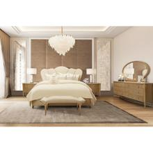 View Product - Cal King Channel-tufted Upholstered Bed (3 Pc)