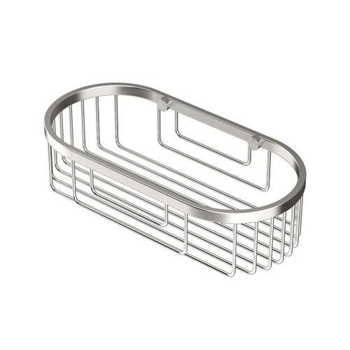 Oval Shower Basket in Satin Nickel