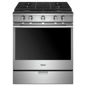5.8 cu. ft. Smart Slide-in Gas Range with EZ-2-Lift™ Hinged Cast-Iron Grates Product Image