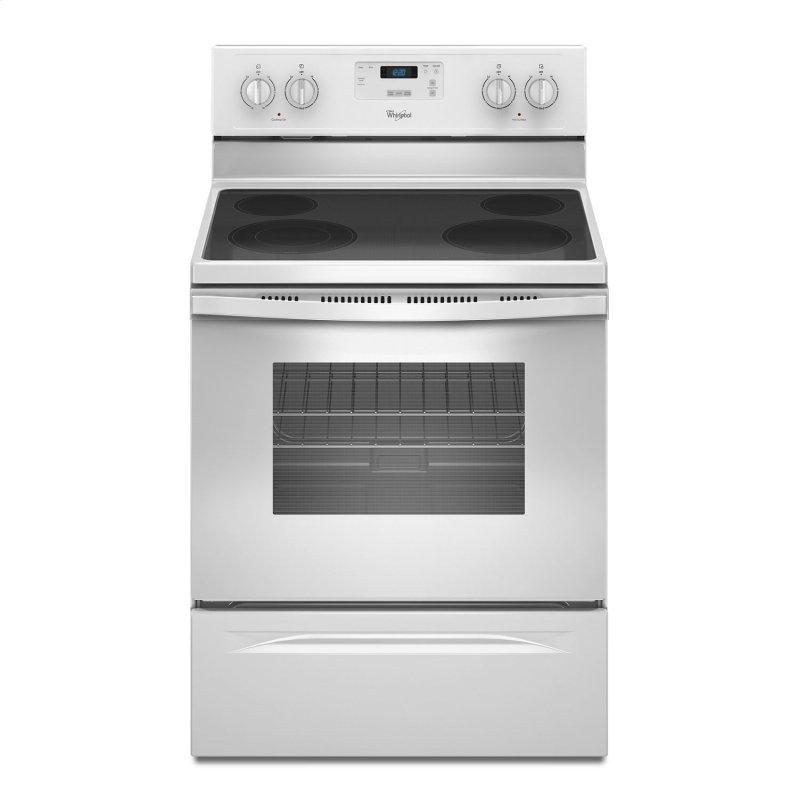 4.8 Cu. Ft. Freestanding Electric Range with FlexHeat Dual Radiant Element White