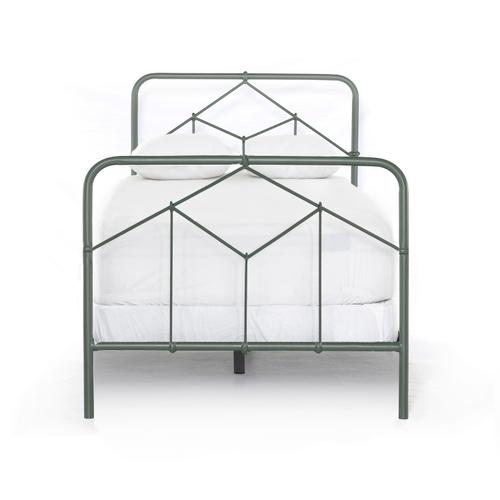 Twin Size Sage Green Finish Casey Bed