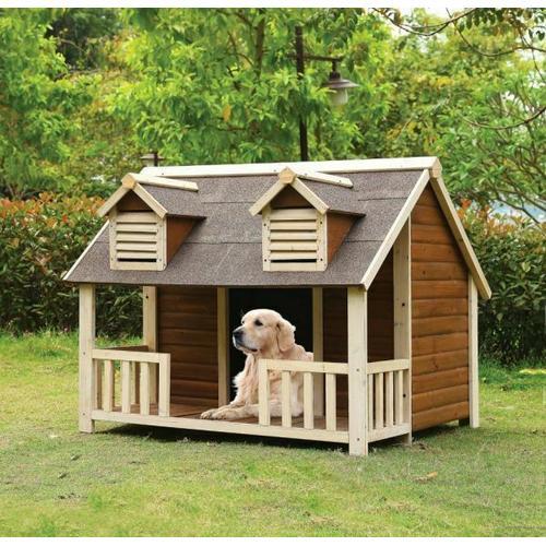 ACME Rufus Pet House - 98210 - Cream & Oak