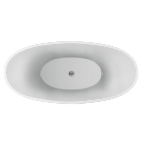 "Nickelby 68"" Acrylic Double Slipper Tub"