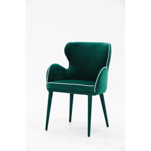 VIG Furniture - Modrest Tigard Modern Green Fabric Dining Chair