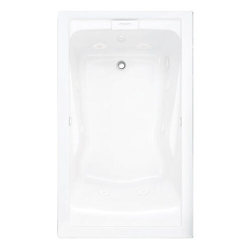 Evolution 60x36 inch Deep Soak EverClean Whirlpool - Arctic White