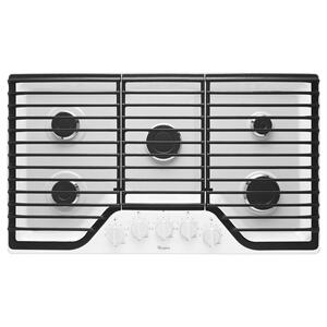 Whirlpool36 Inch 5 Burner Gas Cooktop With Fifth Burner