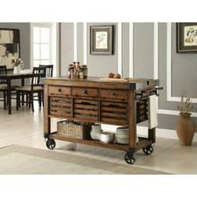 ACME Kaif Kitchen Cart - 98184 - Distressed Chestnut