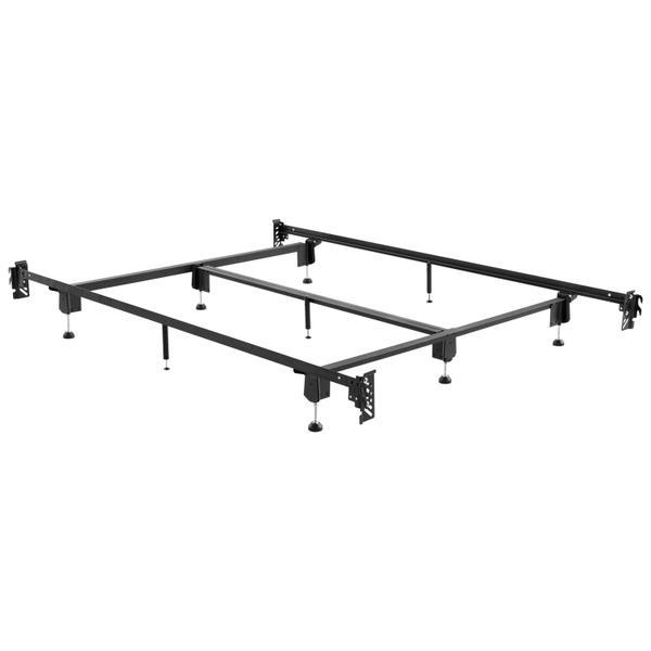 Steelock Adaptable Hook-In Headboard Footboard Bed Frame Queen