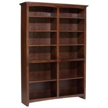 """CAF 72""""H x 48""""W McKenzie Alder Bookcase"""
