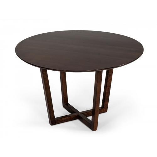Gallery - Modrest Legacy - Modern Round Solid Walnut Beechwood Dining Table