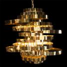 Hemispheres 8 Light Chandelier Gold Product Image