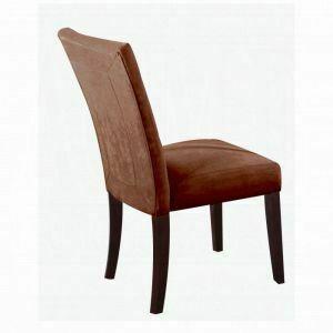 ACME Baldwin Side Chair (Set-2) - 16838 - Chocolate Microfiber & Walnut