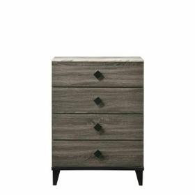 ACME Avantika Chest - 27676 - Transitional - Veneer (Foil), MDF, PB - Faux Marble and Rustic Gray Oak