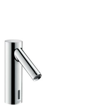Chrome Electronic basin mixer with temperature pre-adjustment battery-operated Product Image
