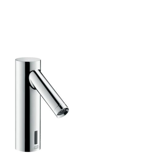 Brushed Nickel Electronic basin mixer with temperature pre-adjustment with mains connection 230 V