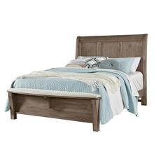 Queen Sleigh Headboard with upholstered bench footboard