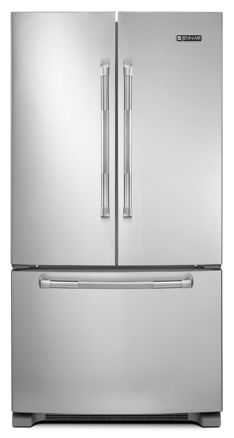 """Jennair69"""" Counter-Depth, French Door Refrigerator With Internal Water/ice Dispensers Stainless Steel"""