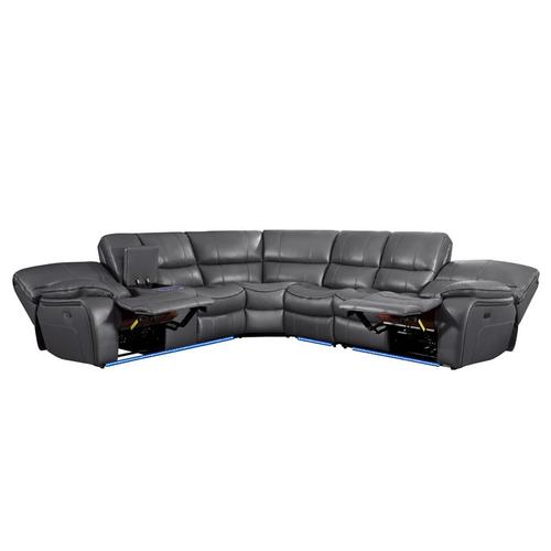 Gallery - 4-Piece Modular Power Reclining Sectional with Left Console and LED
