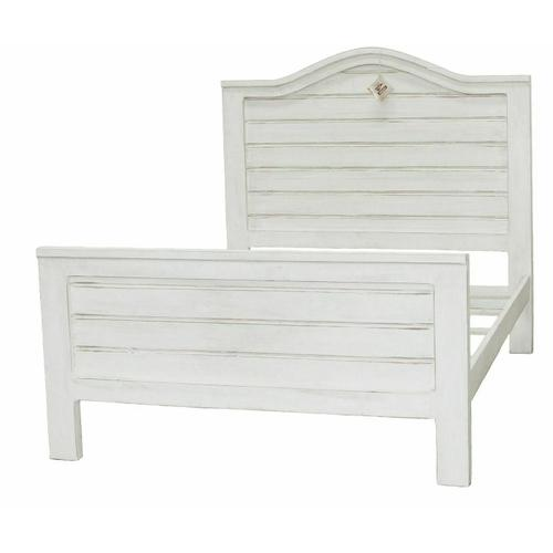 Million Dollar Rustic - W White Ranch Queen Bed