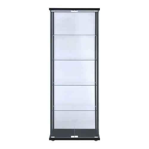 Coaster - Contemporary Black Curio Cabinet