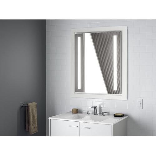 "Sandbar Impressions 31"" Rectangular Vanity-top Bathroom Sink With 8"" Widespread Faucet Holes"
