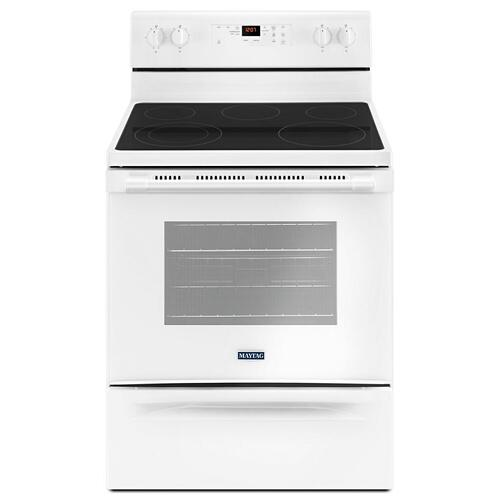 Maytag - 30-Inch Wide Electric Range With Shatter-Resistant Cooktop - 5.3 Cu. Ft.