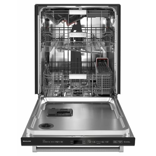 Gallery - 44 dBA Dishwasher with FreeFlex™ Third Rack and LED Interior Lighting - Black Stainless Steel with PrintShield™ Finish