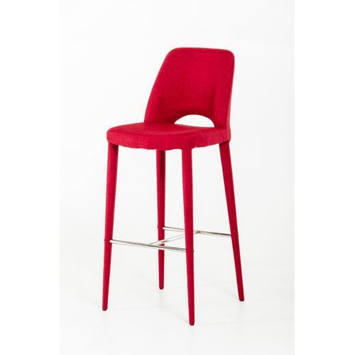 VIG Furniture - Modrest Williamette Modern Red Fabric Bar Stool