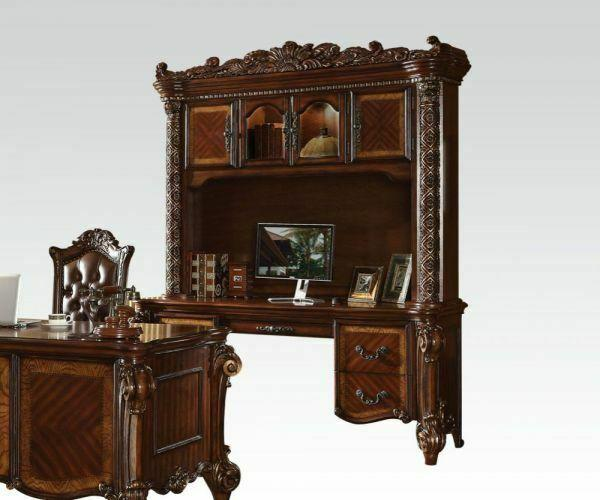 ACME Vendome Computer Desk & Hutch - 92128_KIT - Cherry