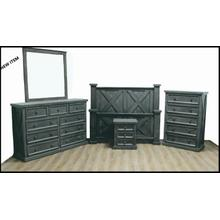 See Details - High Cotton Double X Gray Bedroom Group