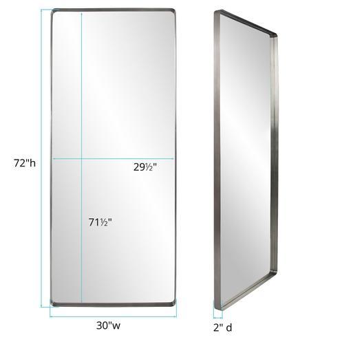 Howard Elliott - Steele Silver Oversize Mirror