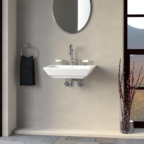 "Opulence Wall-Hung Basin - ""His"" - 4"" Centerset"