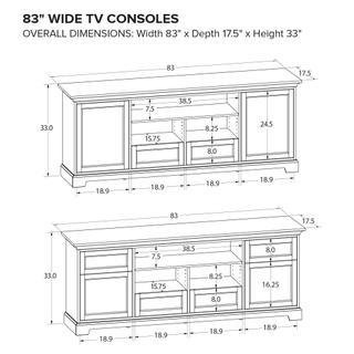 See Details - Howard Miller Custom TV Console TS83B