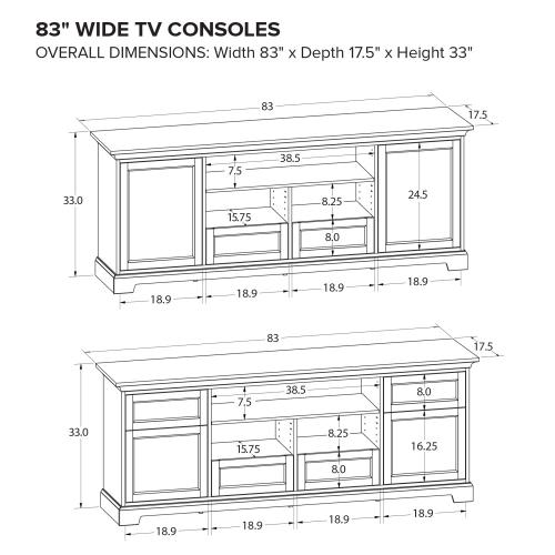Howard Miller Custom TV Console TS83B