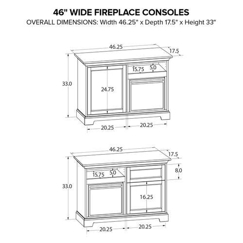 FP46B Fireplace Custom TV Console