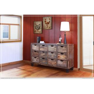 Console w/12 Numbered Drawers, Multicolor Finish
