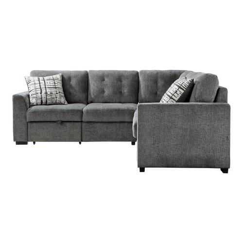 Gallery - 3-Piece Sectional with Pull-out Bed and Pull-out Ottoman