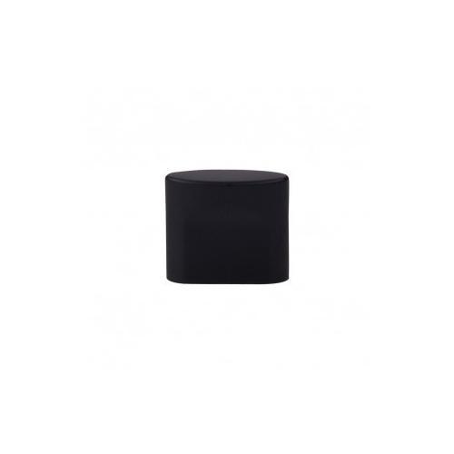 Oval Slot Knob 3/4 Inch (c-c) - Flat Black