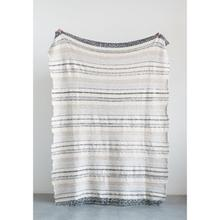 """See Details - 60""""L x 50""""W Cotton Knit Throw, Multi Color"""