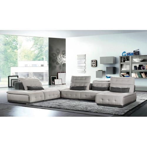 VIG Furniture - David Ferrari Daiquiri - Italian Modern Light Grey + Dark Grey Fabric Modular Sectional Sofa