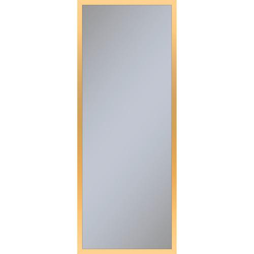 """Profiles 15-1/4"""" X 39-3/8"""" X 4"""" Framed Cabinet In Matte Gold With Electrical Outlet, Usb Charging Ports, Magnetic Storage Strip and Left Hinge"""