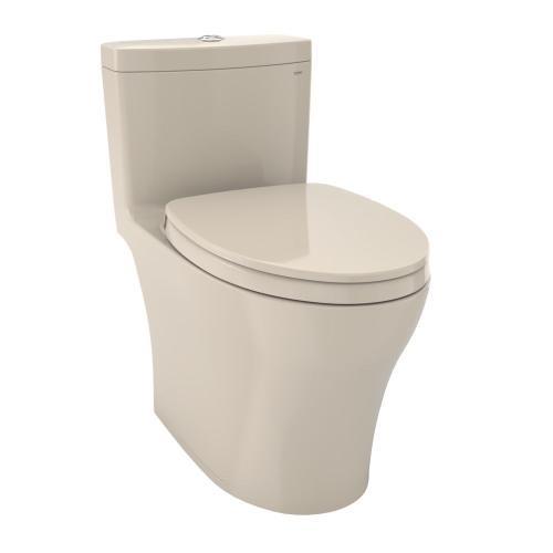 Aquia® IV One-Piece Toilet - 1.28 GPF & 0.8 GPF, Elongated Bowl - WASHLET+ Connection - Bone