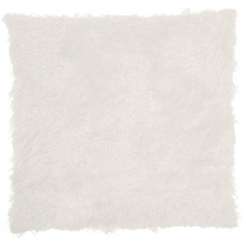 """Faux Fur L0296 White 18"""" X 18"""" Throw Pillow"""