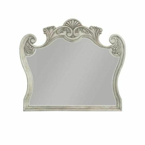 ACME Braylee Mirror - 27184 - Antique White