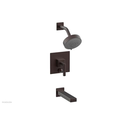 MIX Pressure Balance Tub and Shower Set - Lever Handle 290-27 - Weathered Copper