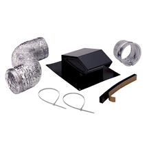 See Details - Broan® Roof Vent Kit, 8-Foot of 4-Inch flexible aluminum duct.